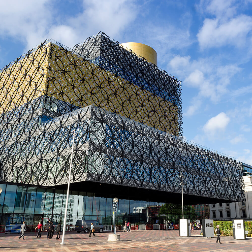 Outside Birmingham library