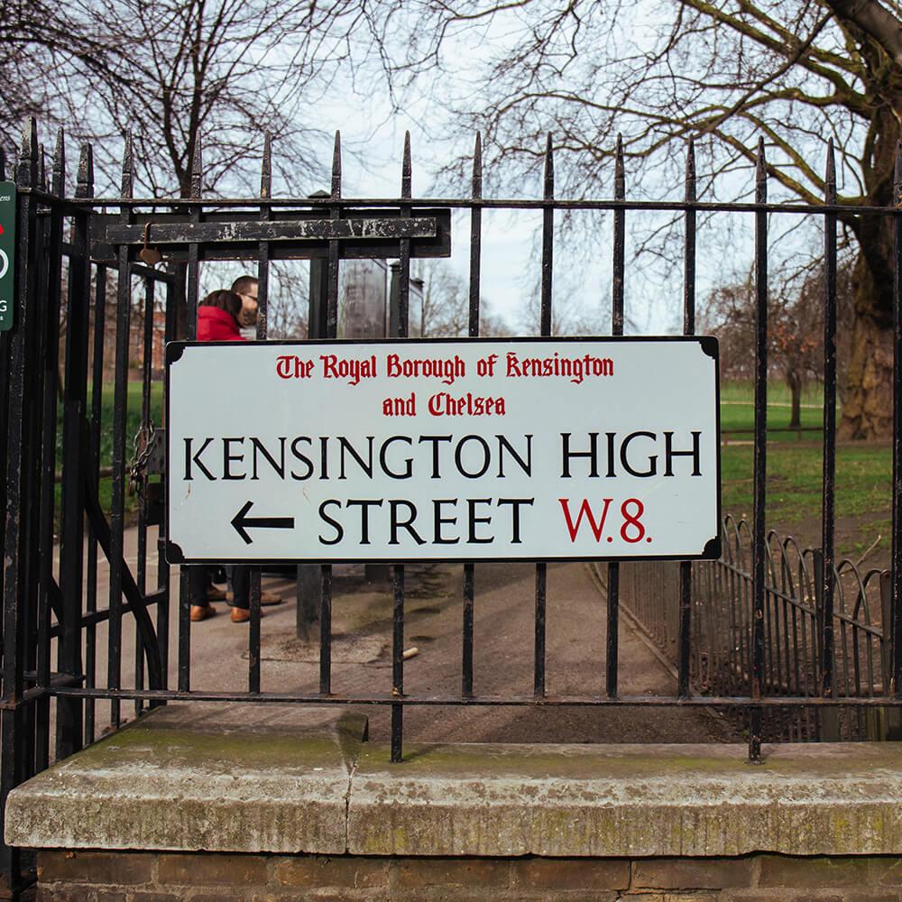 Kensington Road sign